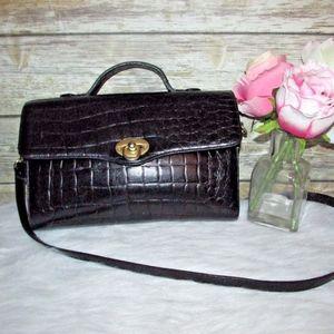 Vintage Liz Claiborne Black Croc Embossed Purse